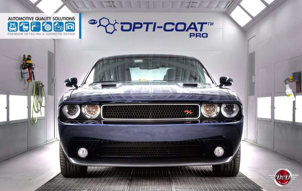A Blue Dodge Challenger RT Detailed and Opti-Coat treated by AQS and D&D Auto Detailing