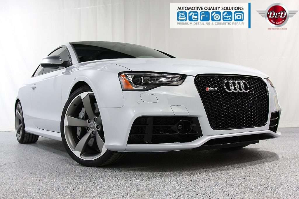 A White Audi RS5 Detailed and Opti-Coat treated by AQS and D&D Auto Detailing