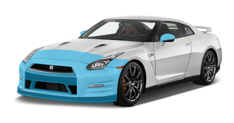 XPEL Coverage - AQS Silver Package on a 2015 Nissan GT-R
