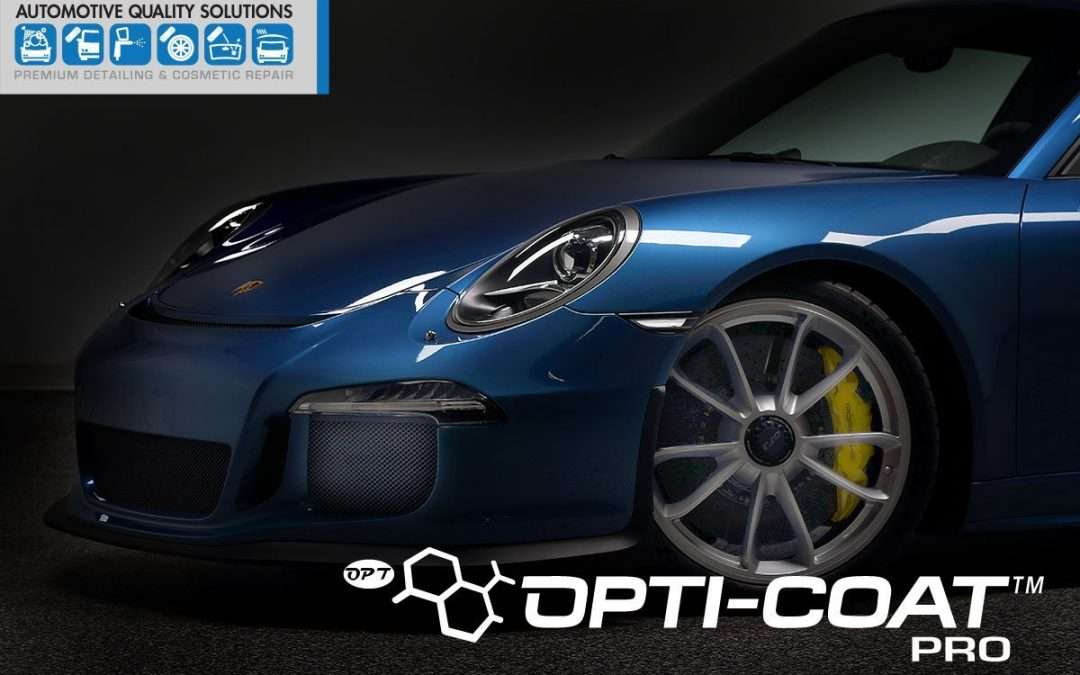 Opti-Coat PRO Permanent Paint Protection Installed by Automotive Quality Solutions on a Porsche GT3